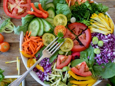 Raw food salad image